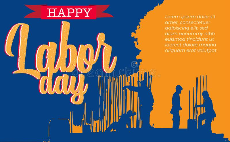 American Labor with activity vector illustration
