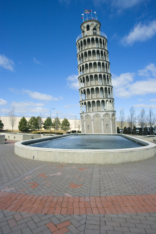 american leaning tower στοκ φωτογραφία