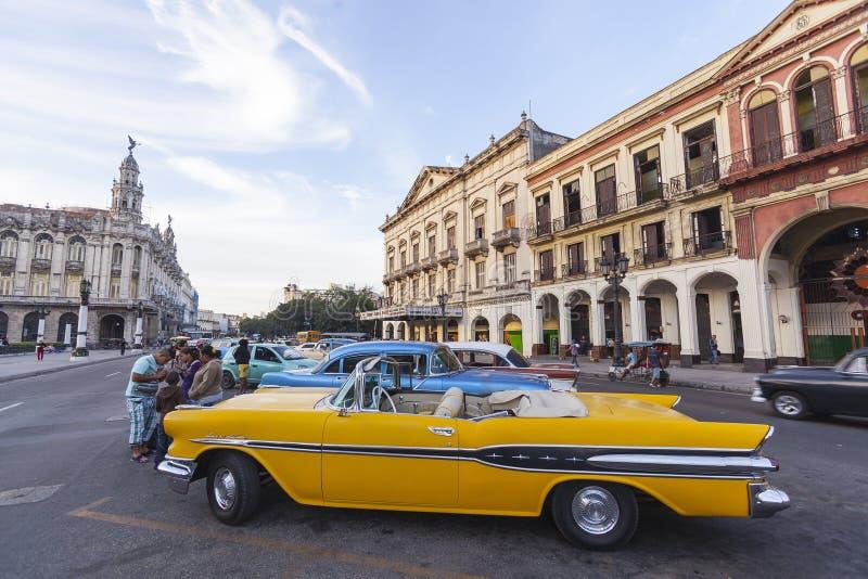 Old American car in Havana, Cuba royalty free stock photography