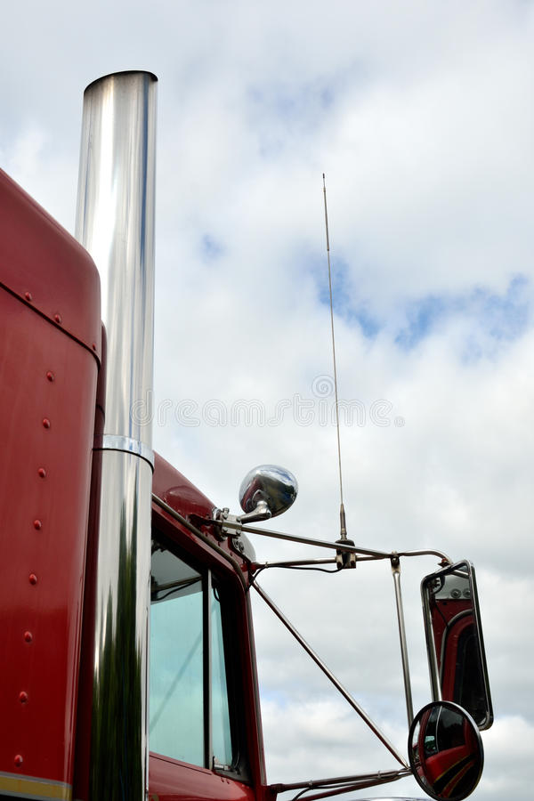 American Lorry engine cab stock photography