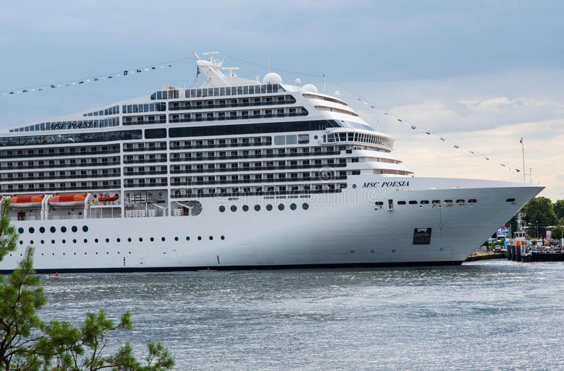 American luxury cruise ship MSC Poesia royalty free stock images