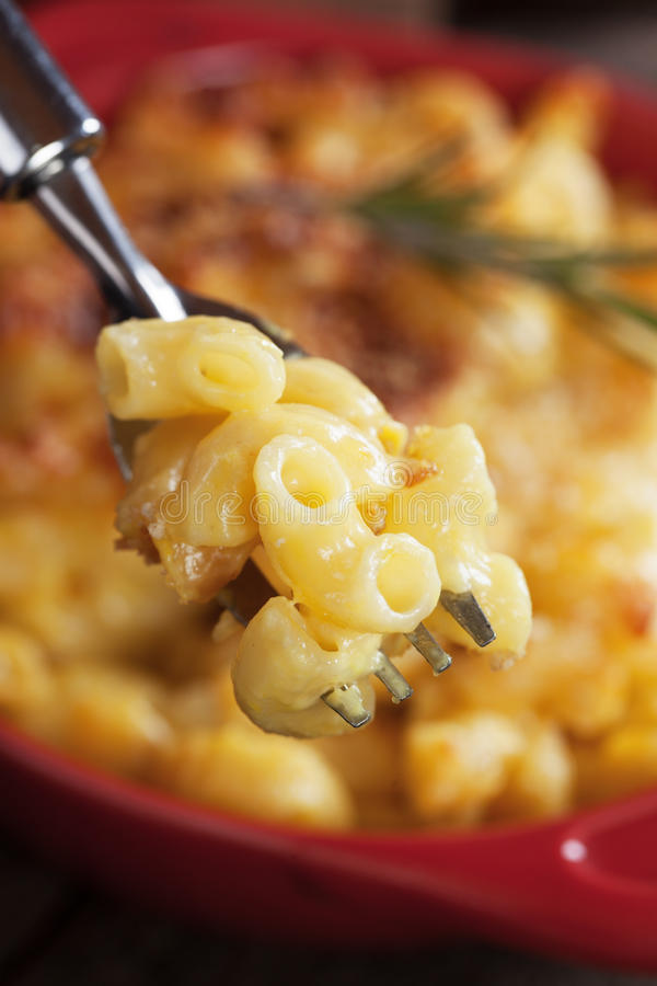 American mac and cheese pasta stock images