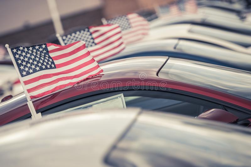 American Made Cars Sale royalty free stock photos