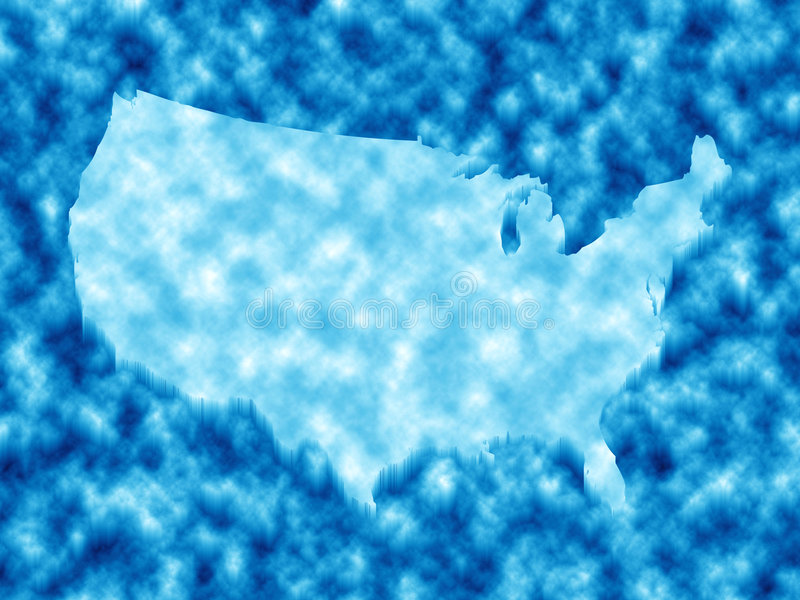 American Map In Ice Stock Image