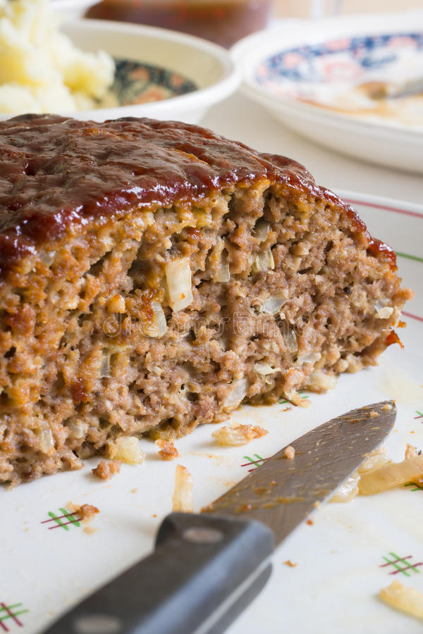 American Meatloaf stock photos