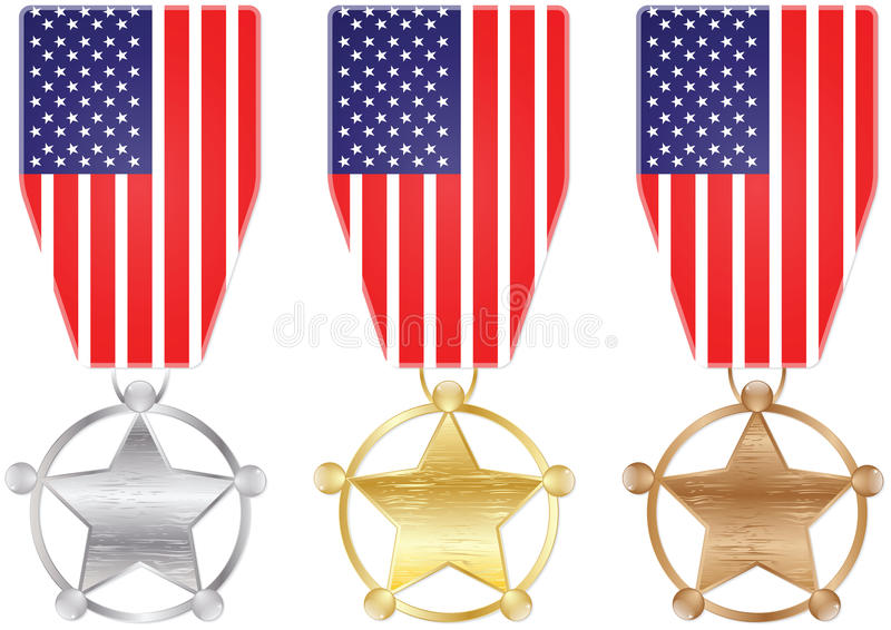 Download American medal stock vector. Image of final, podium, challenge - 31121103