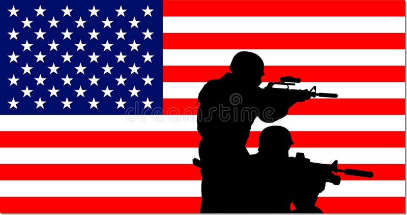 American military background vector illustration