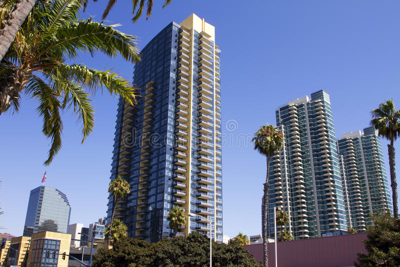 American modern condominiums and retail building. New southern California modern condominiums and retail buildings royalty free stock images