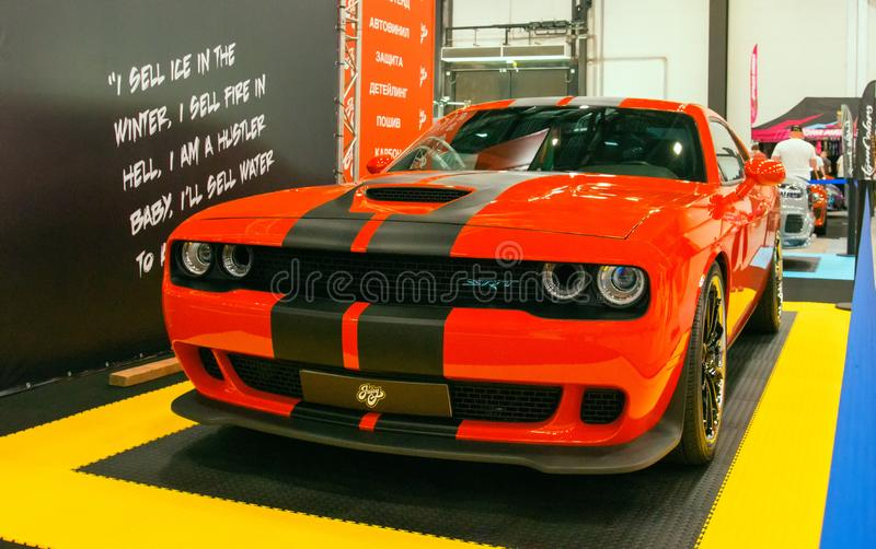American modern muscle car Dodge Challenger SRT Demon stock photography