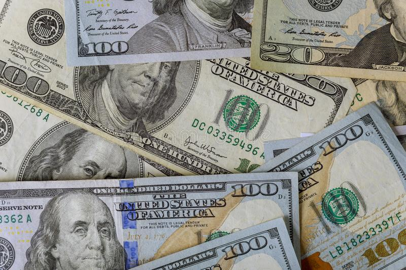 American money lot of dollars close up. Of one hundred dollar bills wealth finance usa currency business 100 paper cash banking investment green success savings stock photos