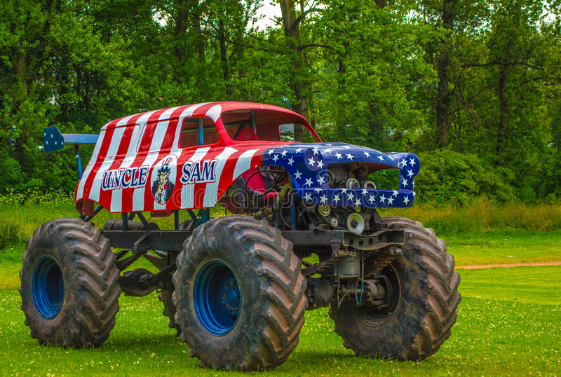 American Monster Truck. Small American Monster Truck in Poland royalty free stock photo