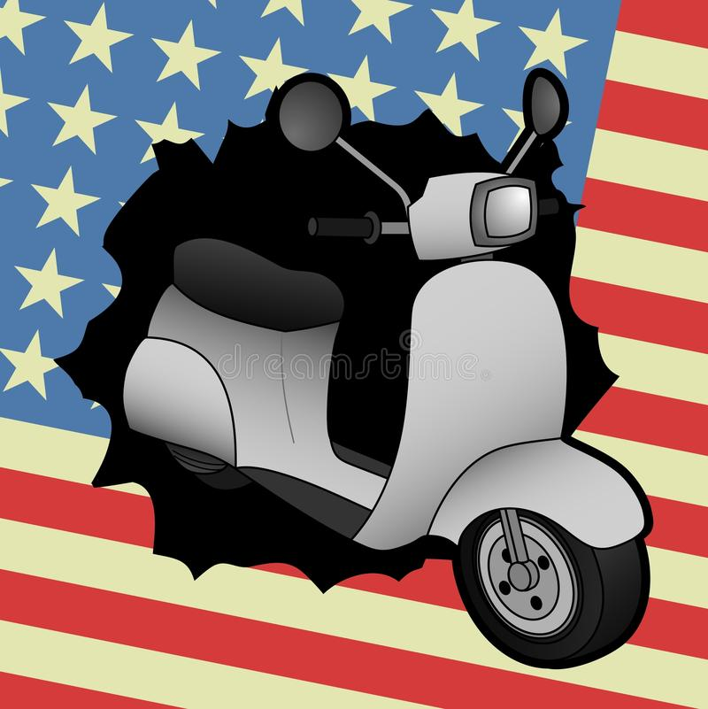 American motor. Creative design of American motor background stock illustration