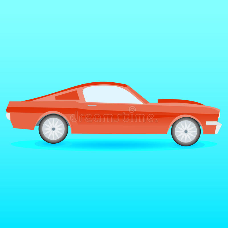 American muscle car stock illustration