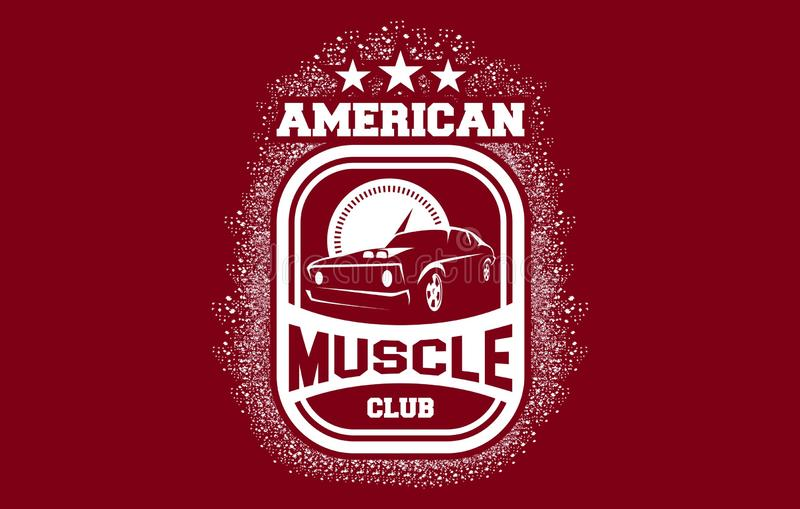 American Muscle Club Emblem Logo. Can be used for personal or Corporate Business vector illustration