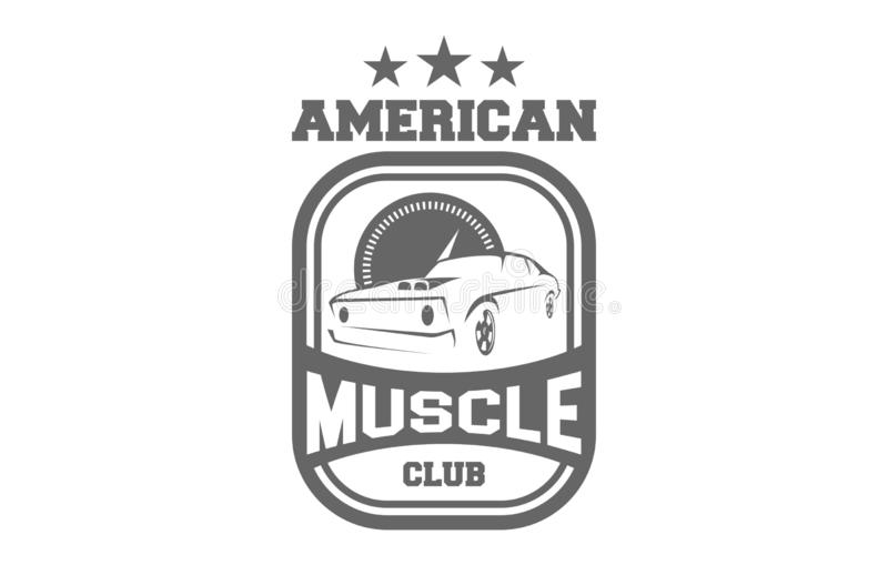 American Muscle Club Logo. Can be used for personal or Corporate Business vector illustration