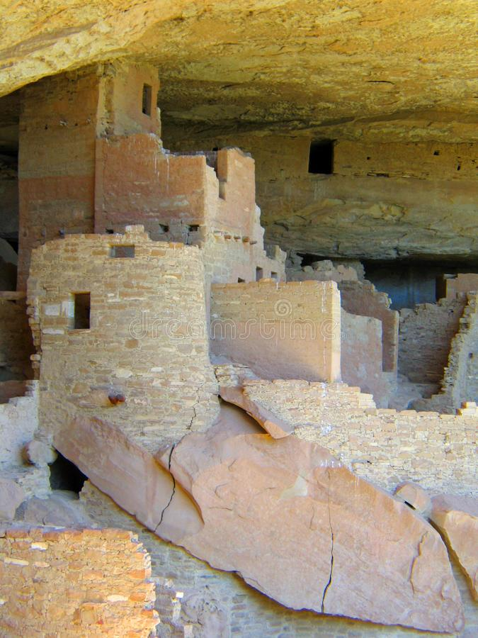 Mesa Verde UNESCO Cliff Dwellings. American national park and UNESCO World Heritage Site located in Montezuma County, Colorado. The park protects some of the royalty free stock photography