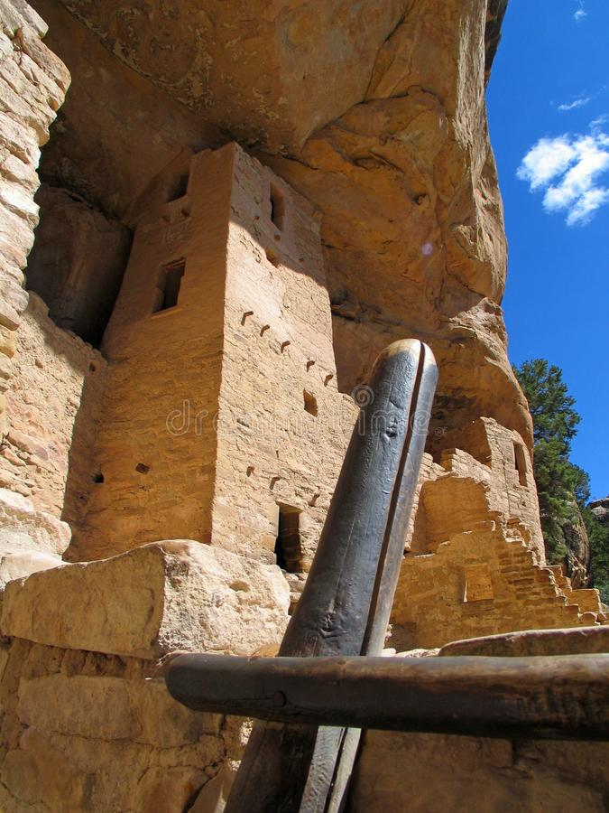 Mesa Verde UNESCO Cliff Dwellings. American national park and UNESCO World Heritage Site located in Montezuma County, Colorado. The park protects some of the stock image