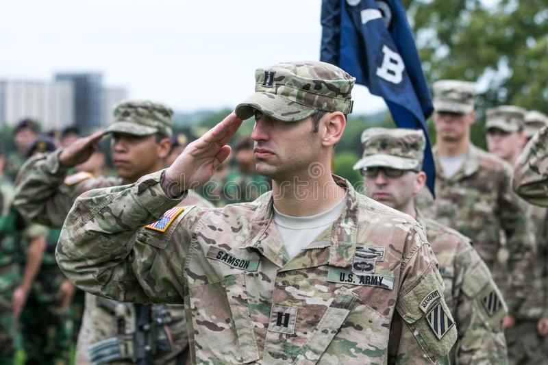 American NATO soldiers stock photography