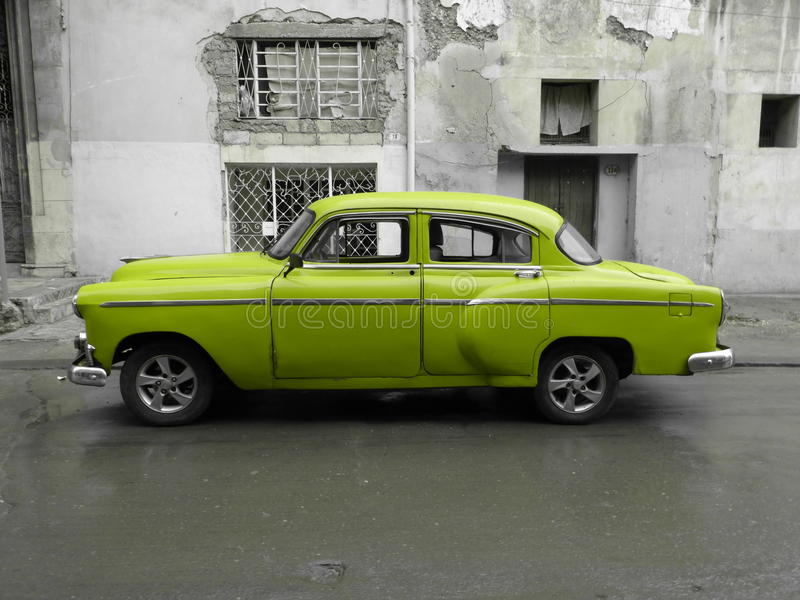 American old car in Cuba stock image
