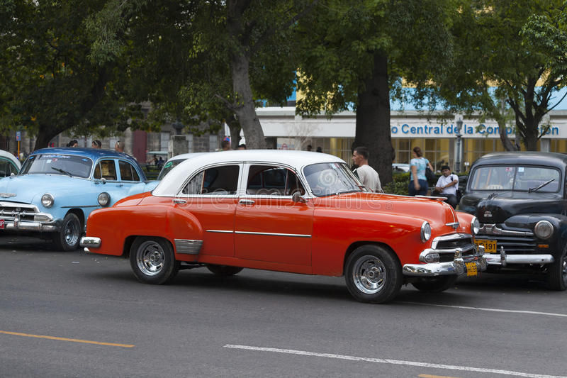 American old car in Havana royalty free stock photography