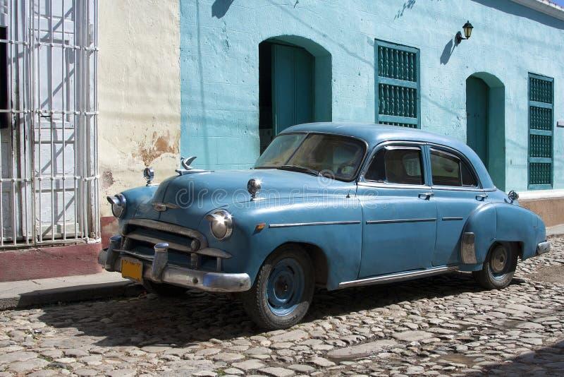 American old car. Near Havana city, Cuba royalty free stock photography