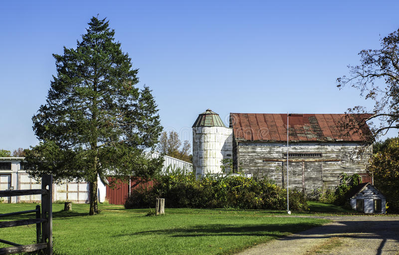 American old country farm stock image