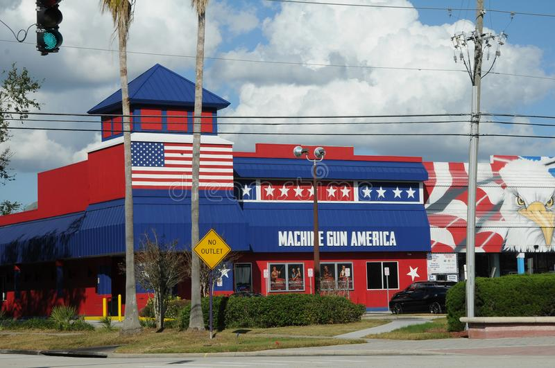 AMERICAN OLD TOWN KISSIMMEE ORLANDO FLORIDA USA. KISSIMMEE/ORLANDO / FLORIDA / USA - 30,November 2017. Visitor and travelers visiting Old town i Kissimmee stock photography
