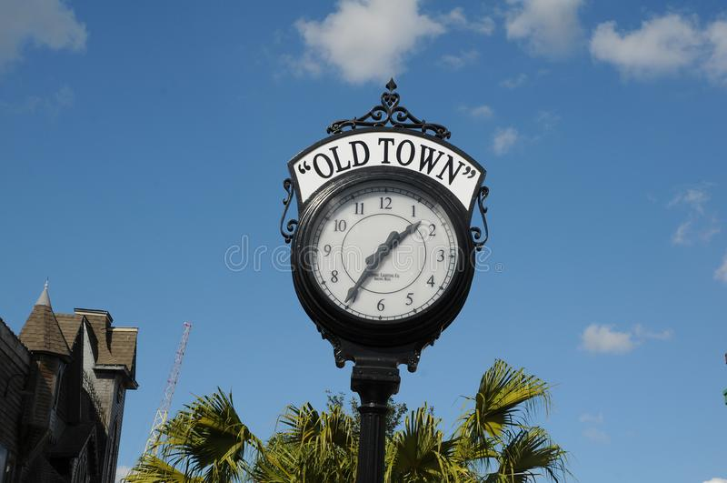 AMERICAN OLD TOWN KISSIMMEE ORLANDO FLORIDA USA. KISSIMMEE/ORLANDO / FLORIDA / USA - 30,November 2017. Visitor and travelers visiting Old town i Kissimmee stock photo