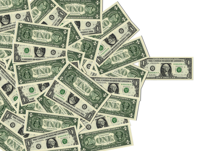 American One Dollar Bills stock photography