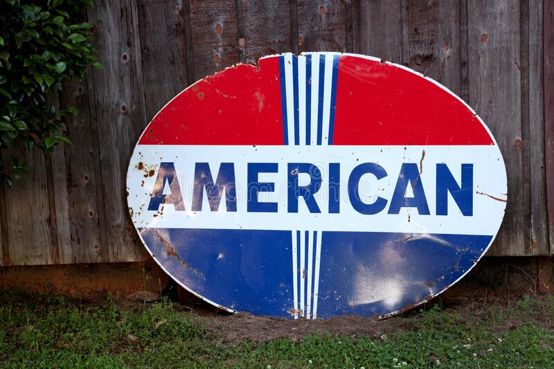 American Oval Signage stock image
