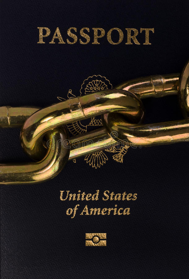Download American Passport And Chain. Stock Photos - Image: 23218603