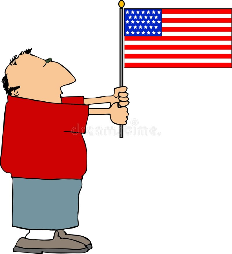American Patriot stock illustration
