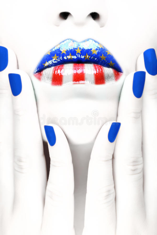 American patriot royalty free stock photos