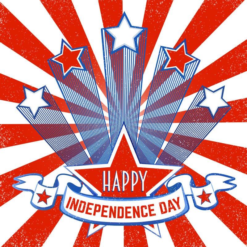 American Patriotic Background royalty free illustration