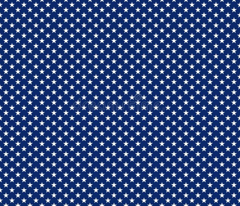 American patriotic seamless pattern white stars on blue background royalty free illustration