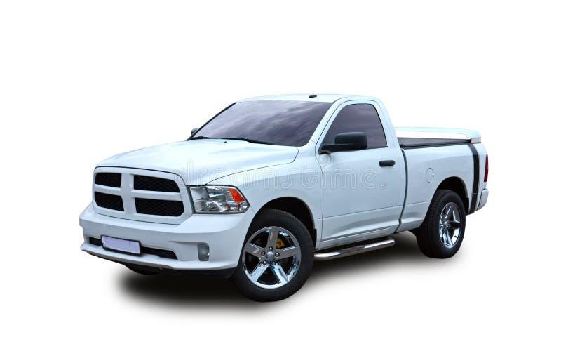 american pickup Άσπρη ανασκόπηση στοκ φωτογραφίες