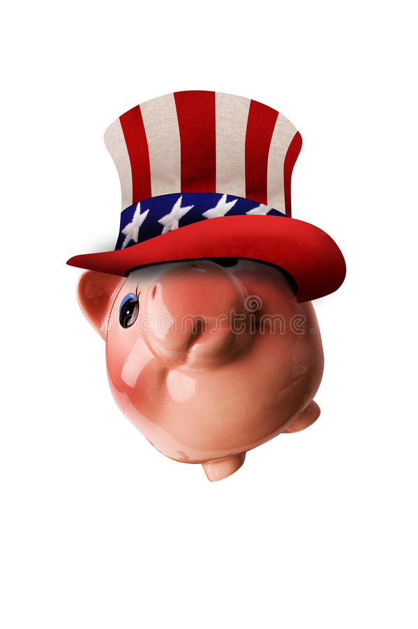American piggy bank royalty free stock photography