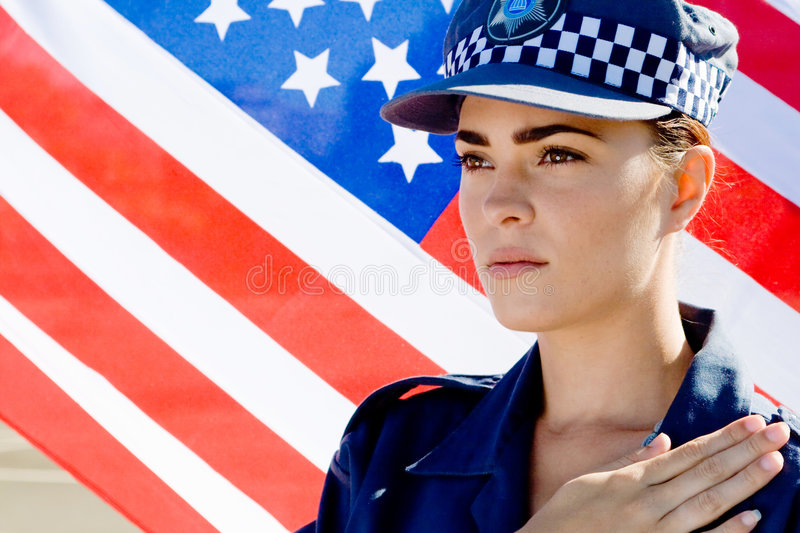American Police Stock Image
