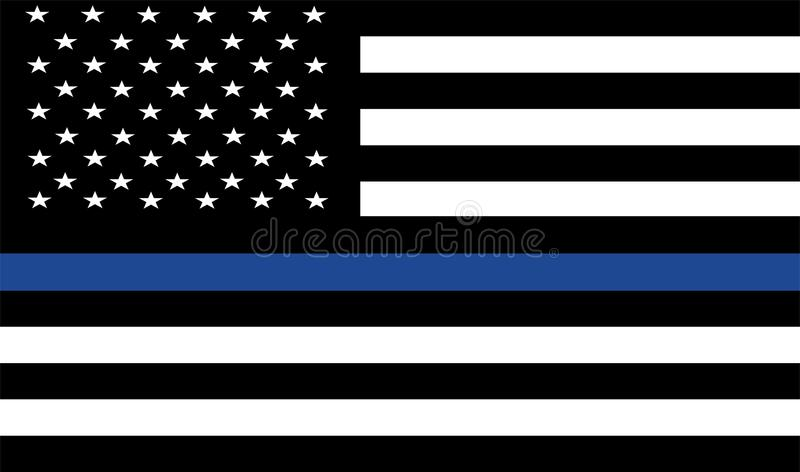 American police flag . royalty free illustration