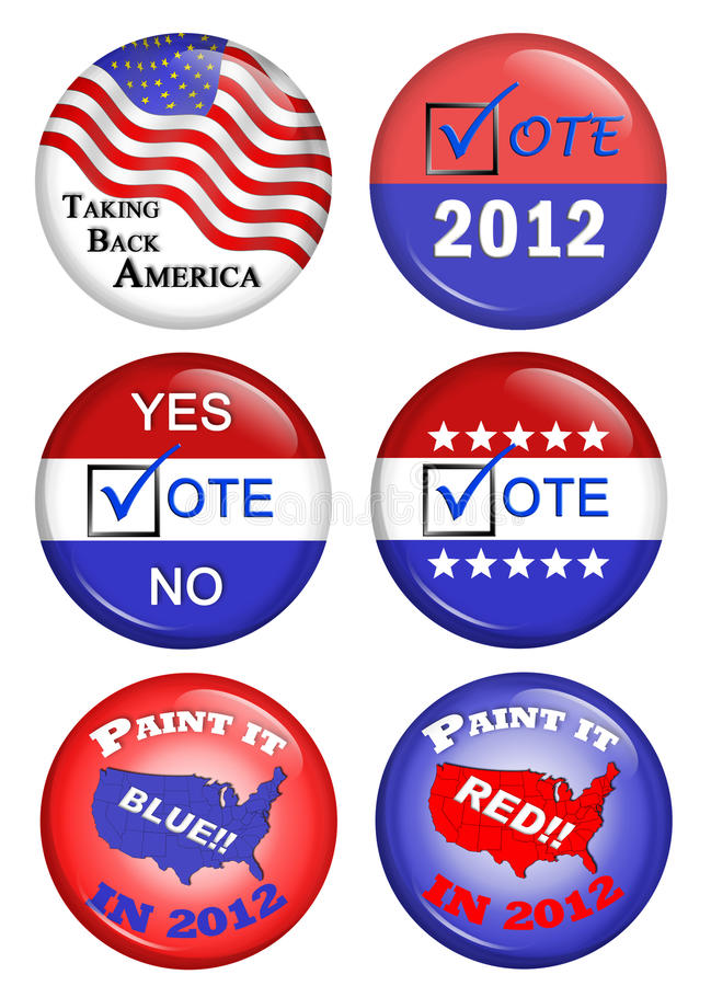 Download American Political Campaign Buttons Stock Illustration - Illustration: 22835762