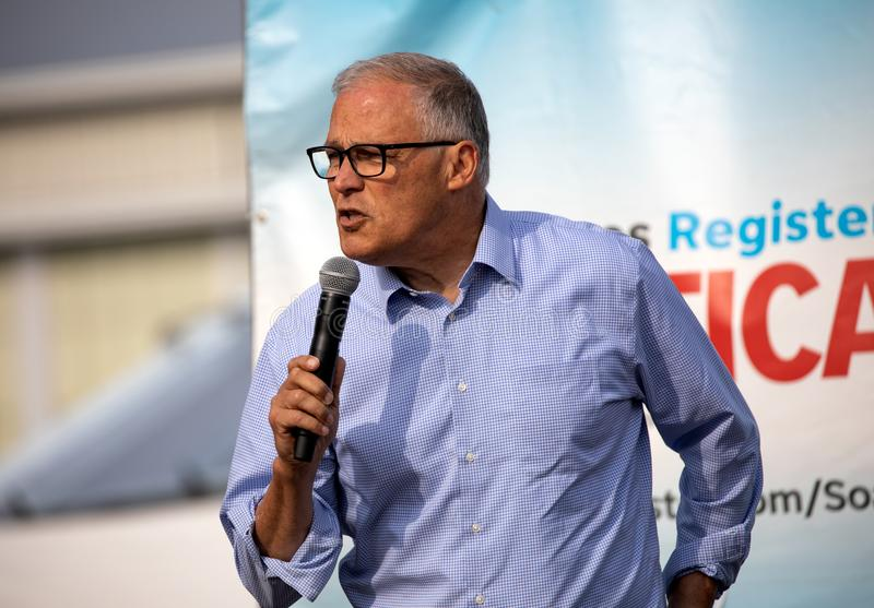 American Politician Democrat Jay Inslee stock photography
