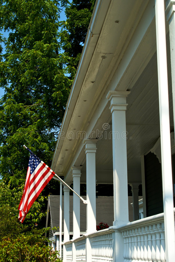 Download American porch stock image. Image of pole, white, columns - 6029163