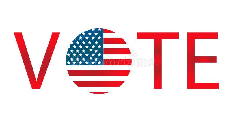 American presidential election badges. Vector vector illustration