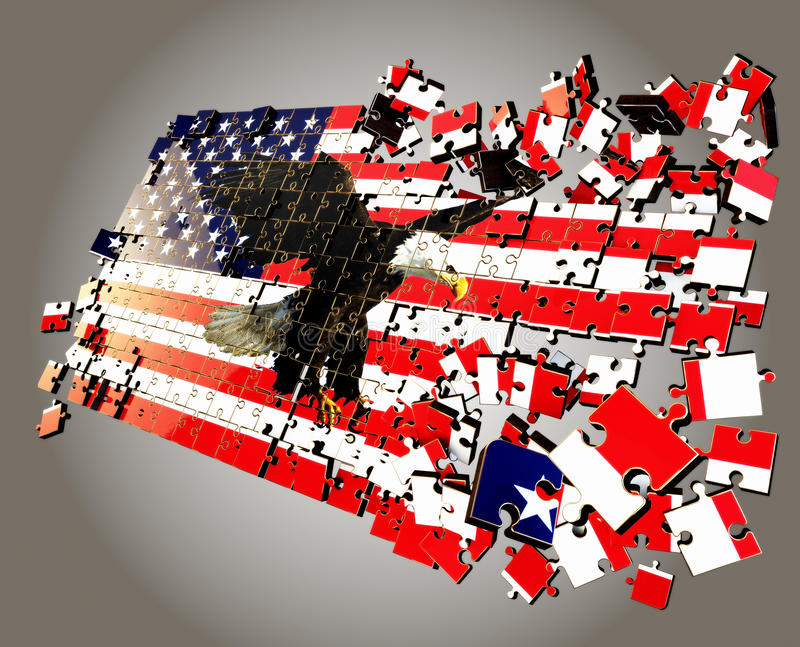 Download An American puzzle stock illustration. Image of country - 28370803