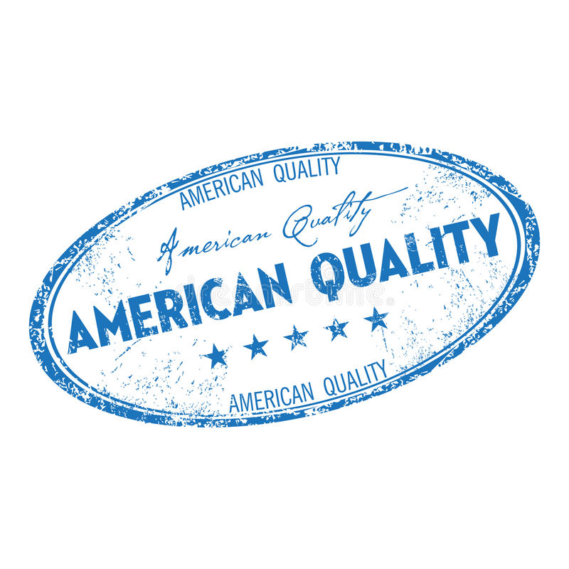 American quality grunge rubber stamp stock photo