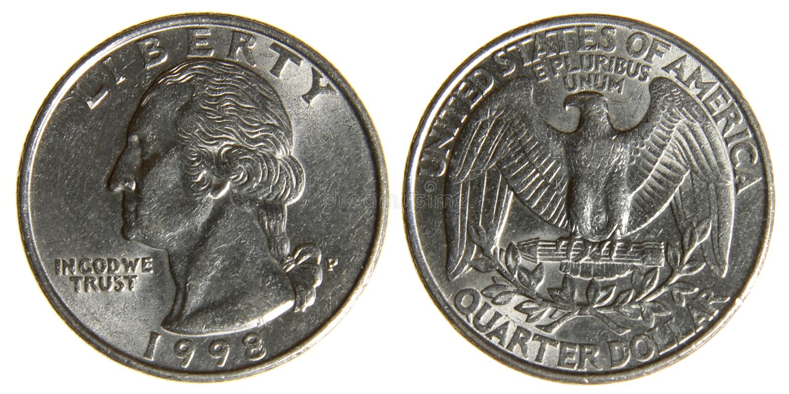 American Quarter from 1998 royalty free stock photography