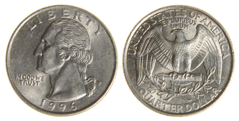 American Quarter from 1966 stock photo
