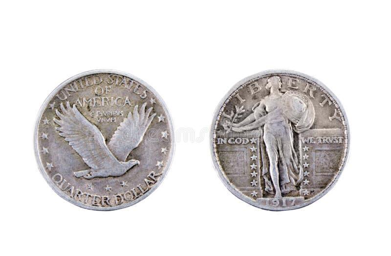 American quarter dollar stock images