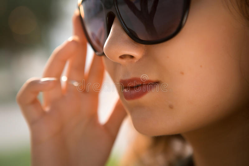Download American Redhead Girl In Suglasses. Photo In 60s Style. Stock Image - Image: 37167331