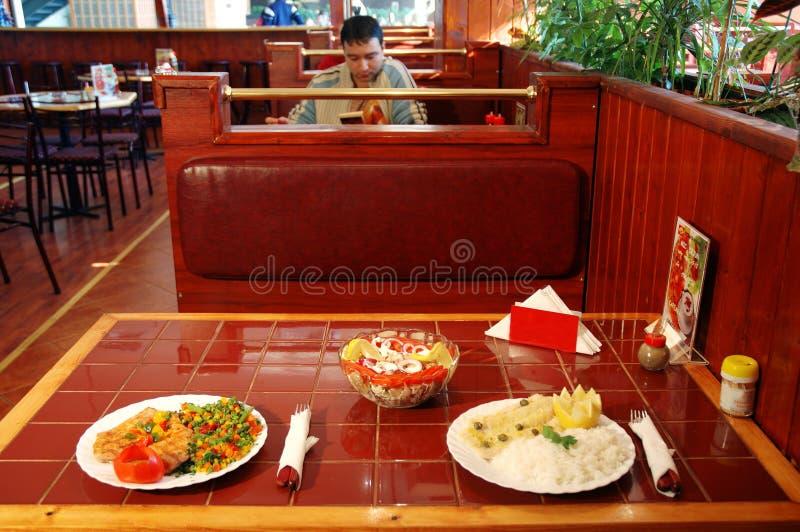 American restaurant stock image